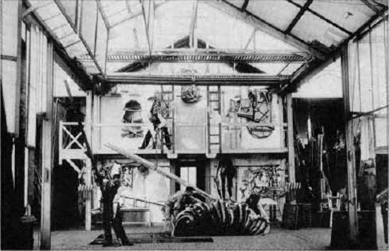 """Studio di Méliès a Montreuil. Interno."""