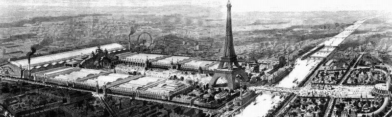 """""""Illustrazione. Parigi durante l'esposizione universale del 1900."""""""