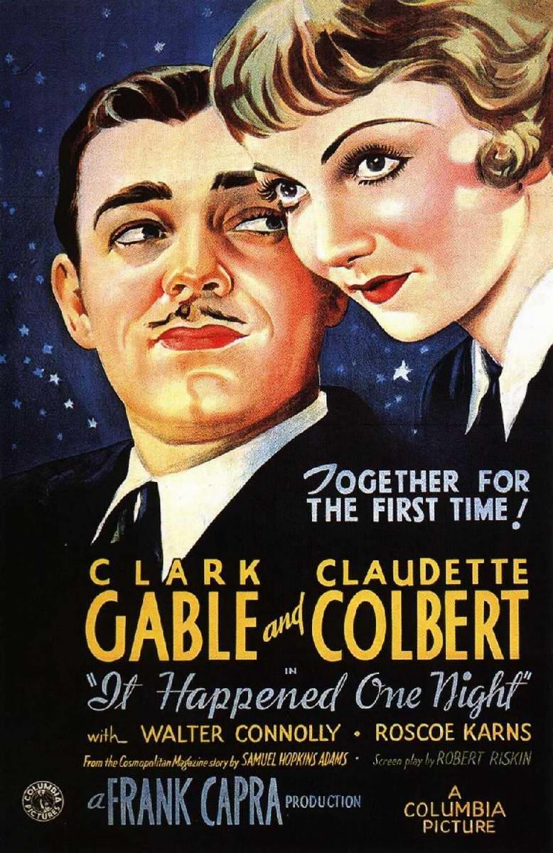 """""""Locandina per il film Accadde una notte (1934) di Frank Capra. """""""