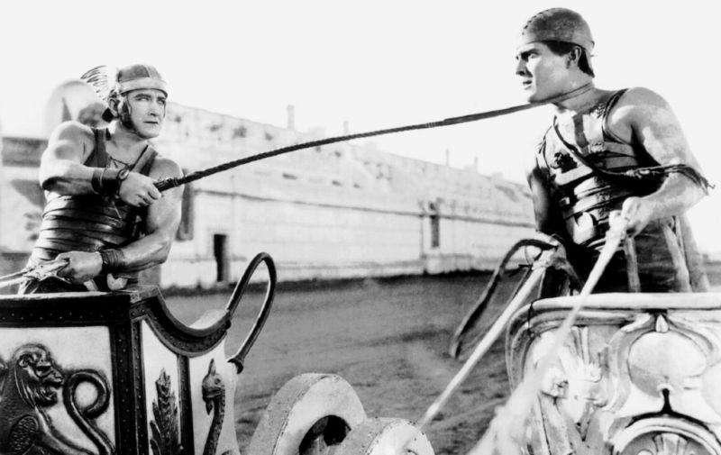 """""""scena della corsa delle bighe nel film Ben Hur (1925)"""""""