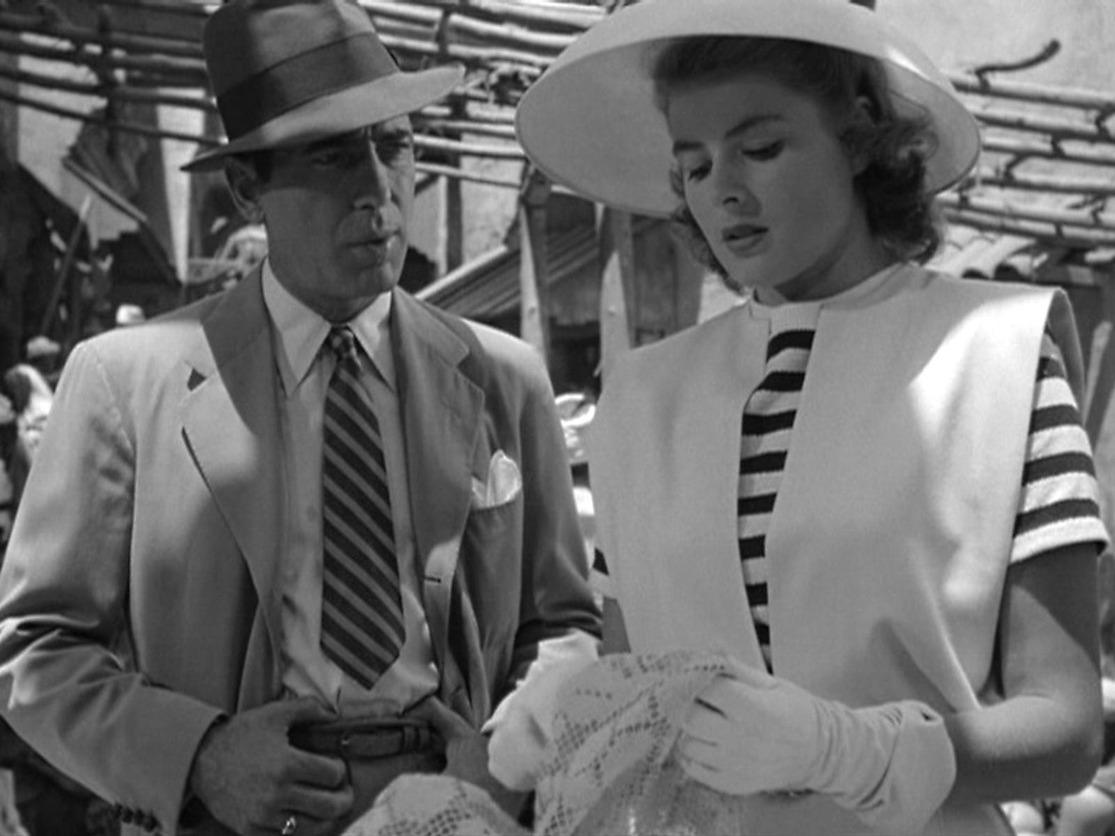 """Humphrey Bogart e Ingrid Bergman in Casablanca"""