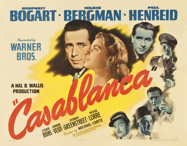 """Locandina del film Casablanca"""