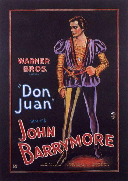 """""""Locandina per il film Don Giovanni e Lucrezia Borgia (1927) di Alan Crosland"""""""