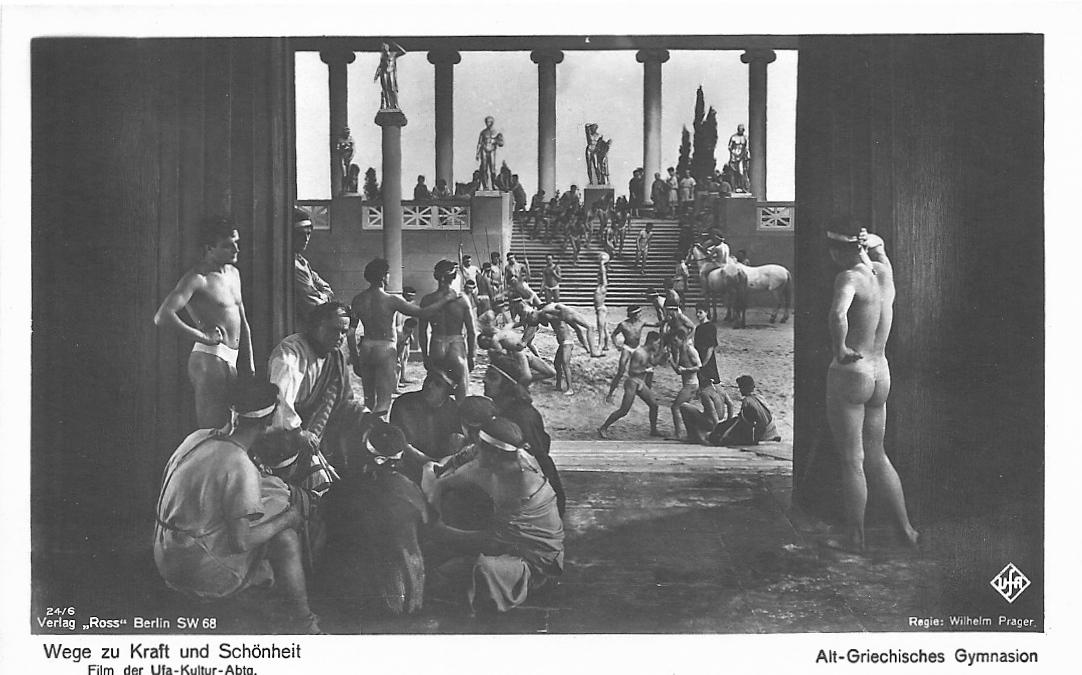 """""""Cartolina promozionale per il film """"Forza e bellezza"""" (1925) di Nicholas Kaufmann e Wilhelm Prager."""""""