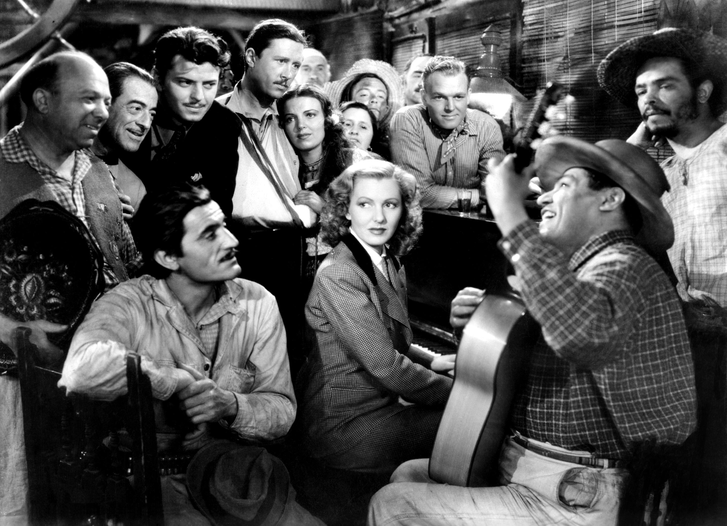 """""""Una scena del film Avventurieri dell'aria (1939) di Howard Hawks con Jean Arthur"""""""