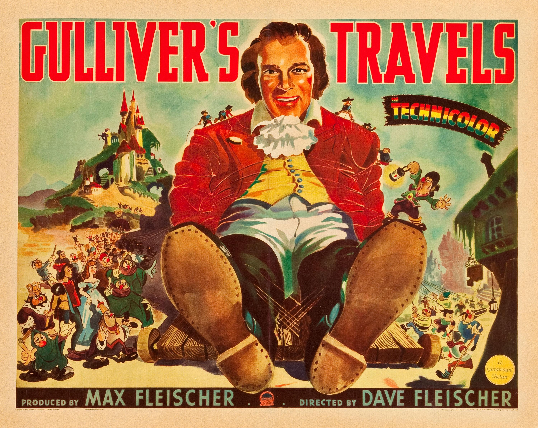 """""""locandina per il film d'animazione I Viaggi di Gulliver."""""""
