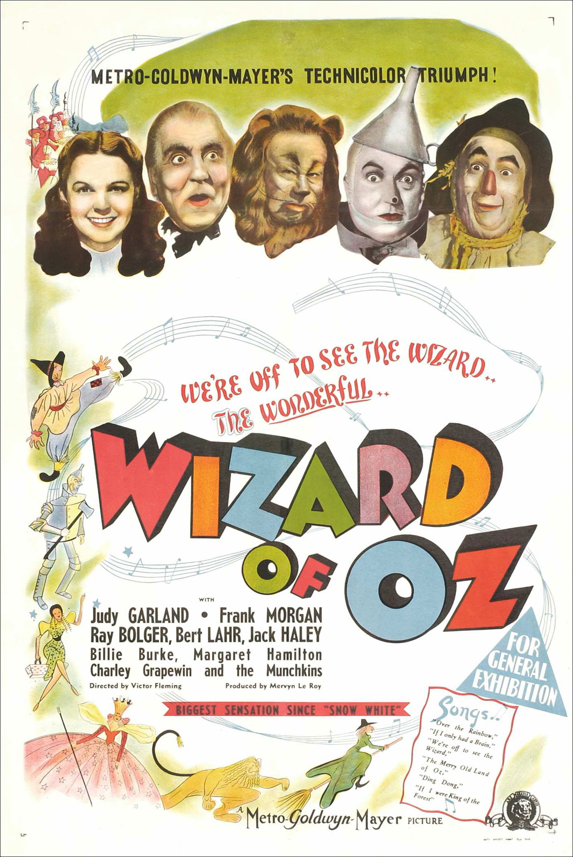 """""""Locandina per il film Il Mago di Oz"""""""