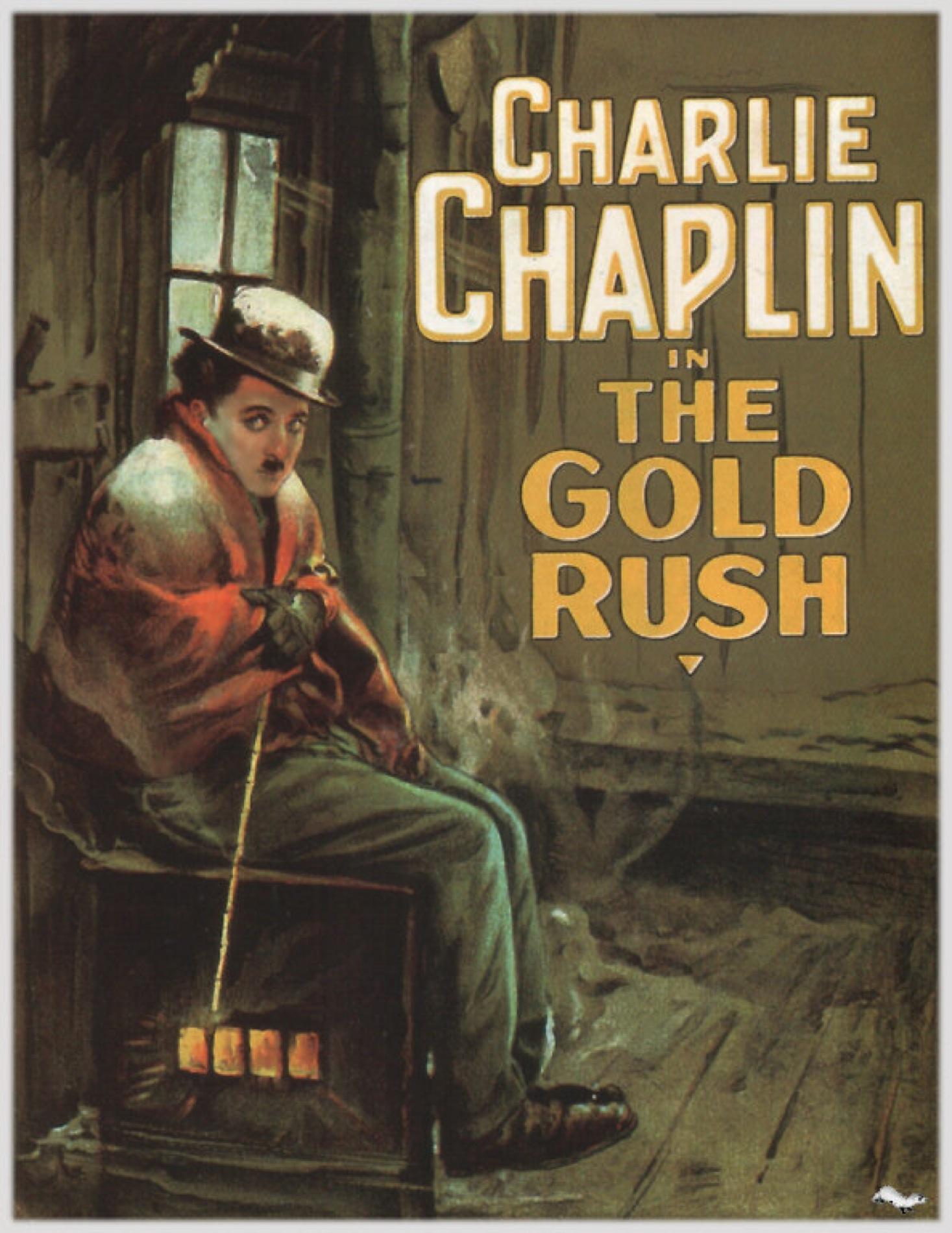 """""""Locandina per il film di Chaplin La febbre dell'oro (1925)"""""""
