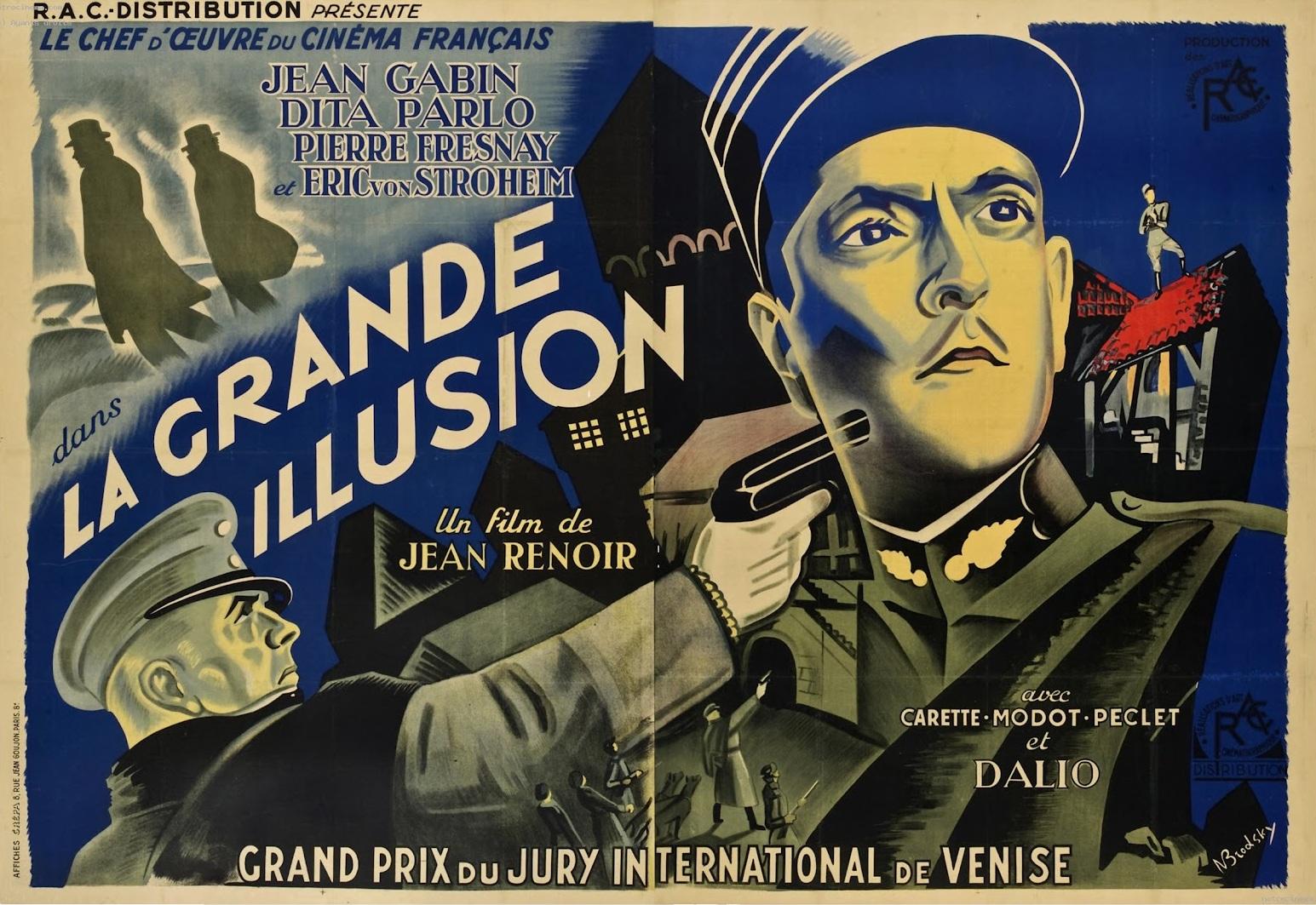 """""""Locandina del film La grande illusione di Jean Renoir"""""""