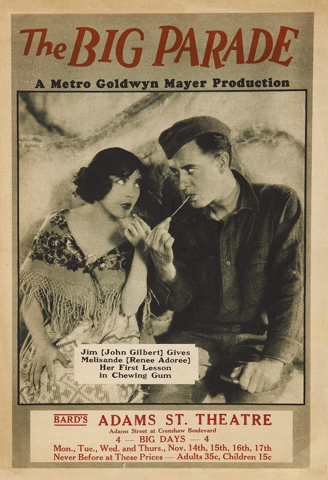 """""""Locandina per il film di King Vidor The Big Parade (1925)"""""""