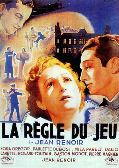 """""""Locandina per il film La Regola del Gioco di Jean Renoir"""""""
