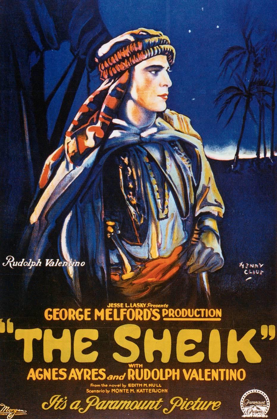 """""""Locandina per il film Lo sceicco (1921) di George Melford."""""""