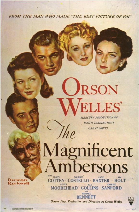 """""""Locandina del film L'orgoglio degli Amberson di Orson Welles"""""""