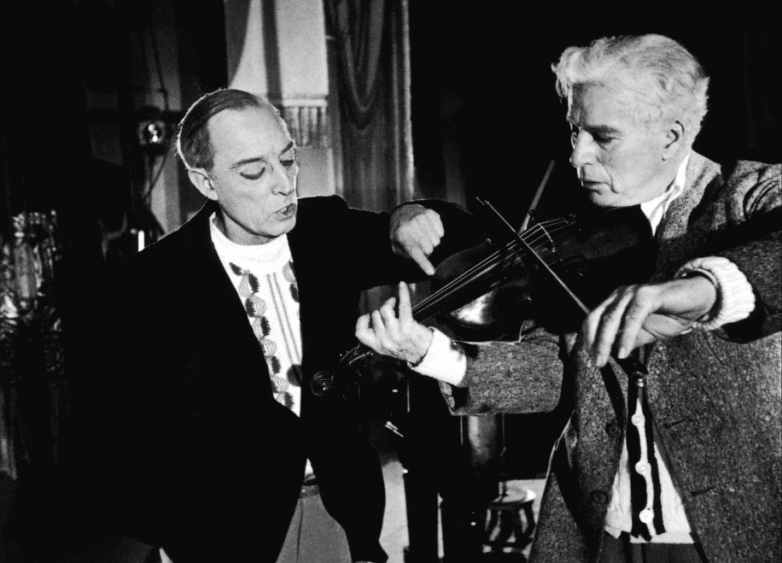 """""""Charlie Chaplin e Buster Keaton nel film Luci della Ribalta (1956)"""""""