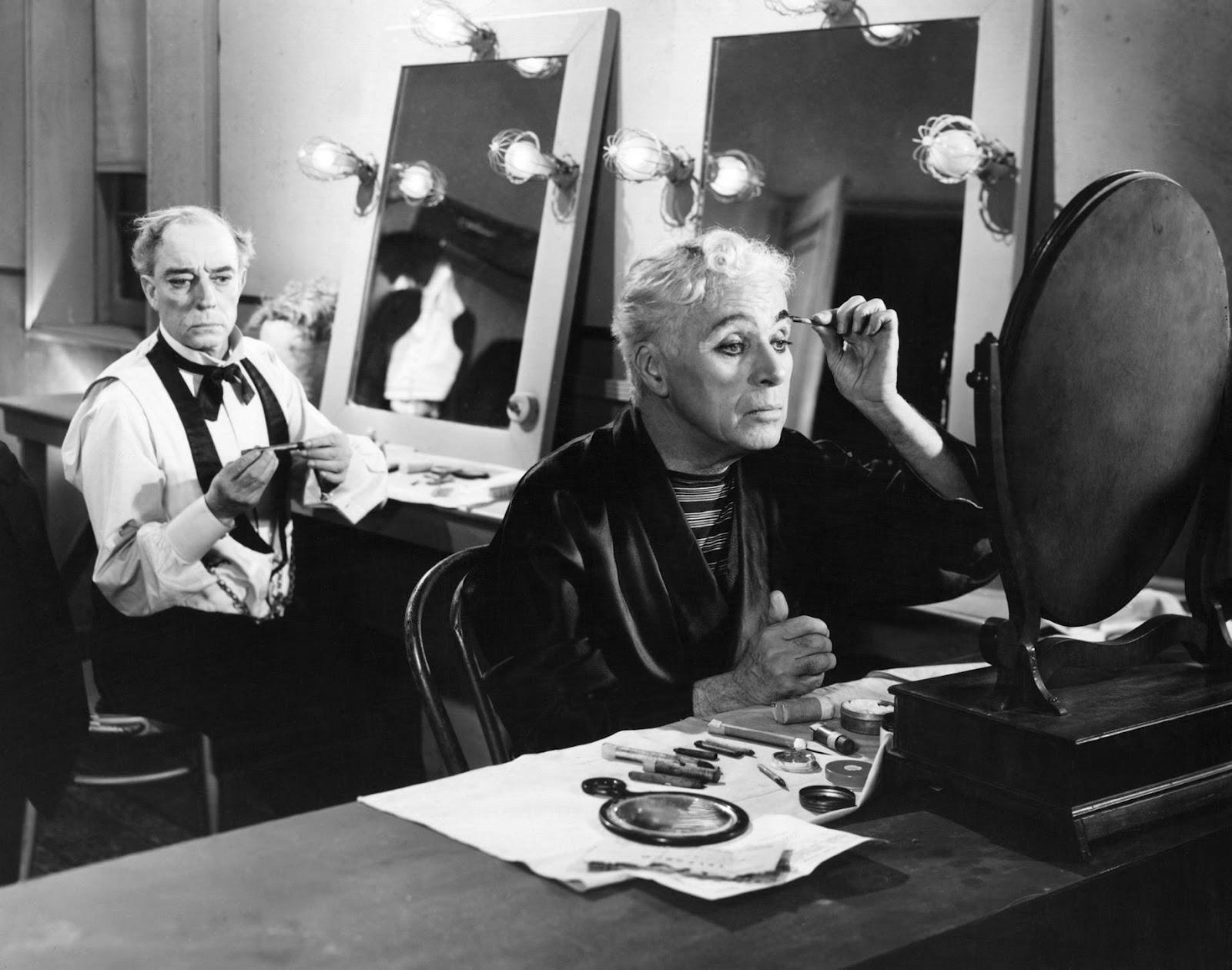 """""""Charlie Chaplin e Buster Keaton in Luci della ribalta."""""""
