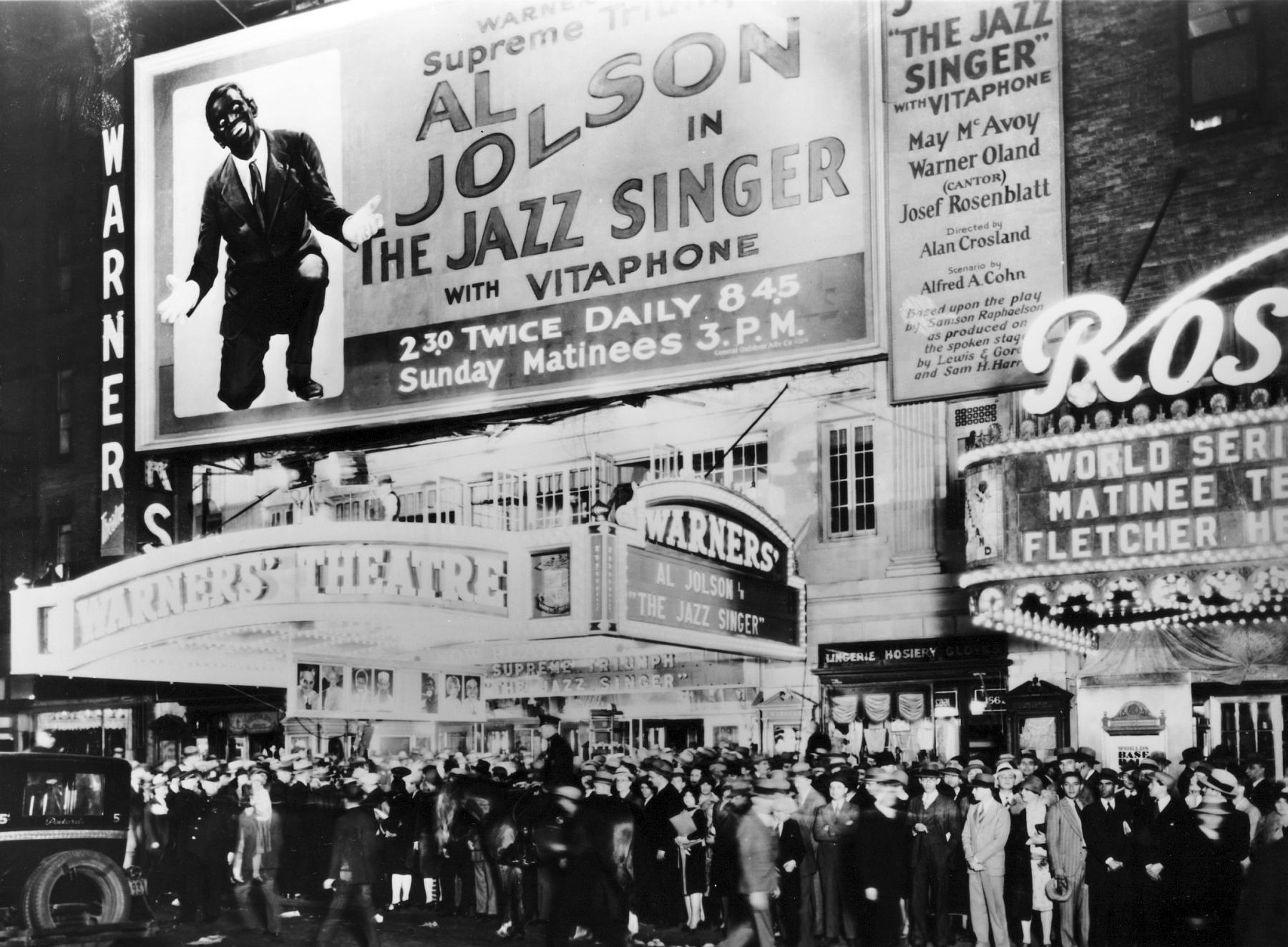 """Prima newyorkese di The Jazz Singer: 6 ottobre 1927."""