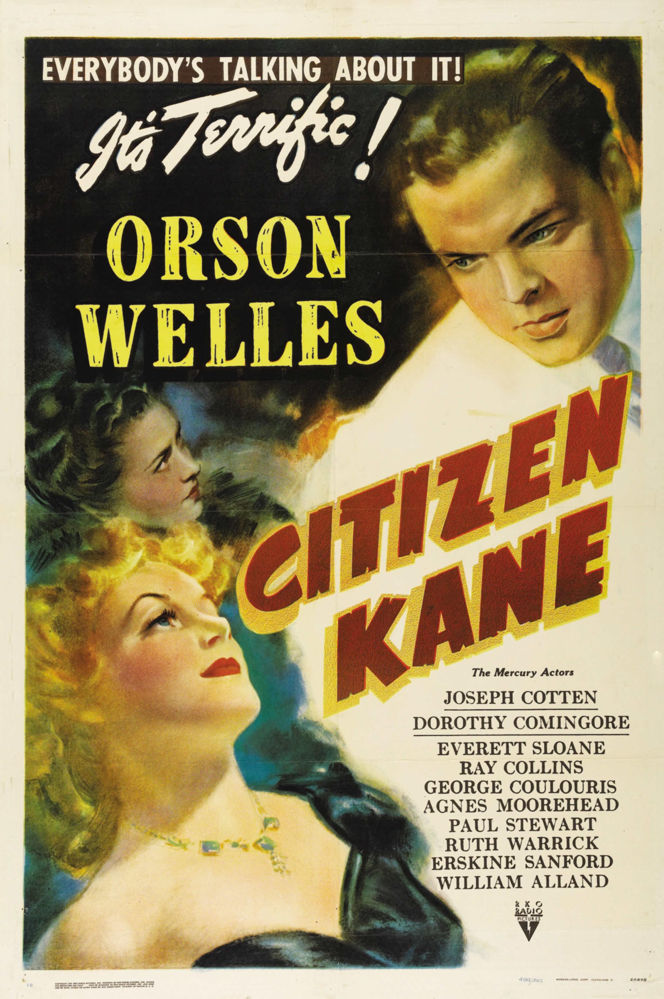 """""""Locandina del film Quarto Potere di Orson Welles"""""""