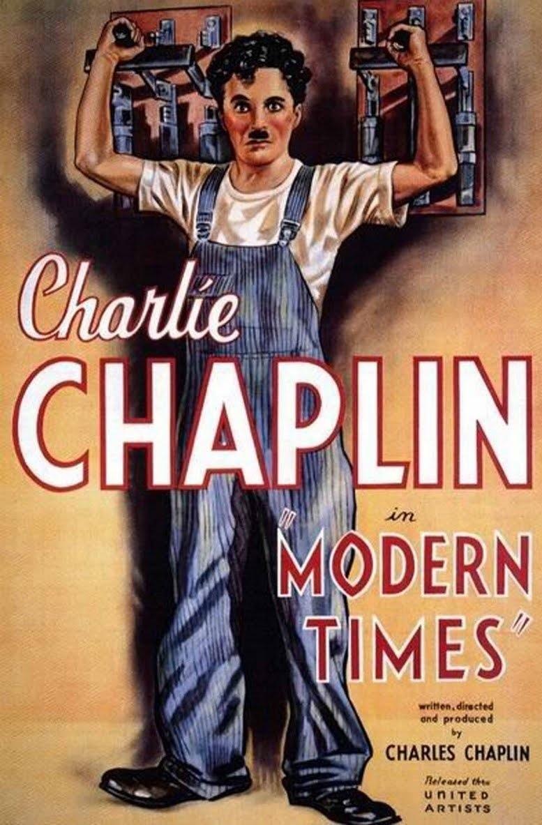 """""""Locandina del film Tempi Moderni di Charlie Chaplin"""""""